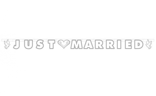 Banner Just Married - Taube
