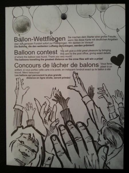 Ballonflugkarten Wettfliegen