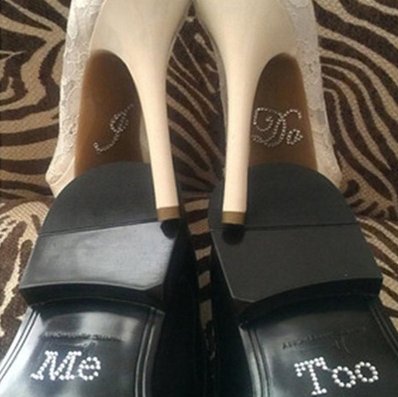 "Schuhsticker ""I Do - Me too"" Strass"