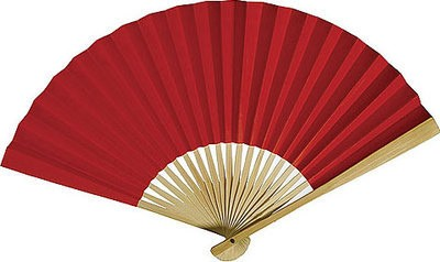 Premium Papierfächer Rot