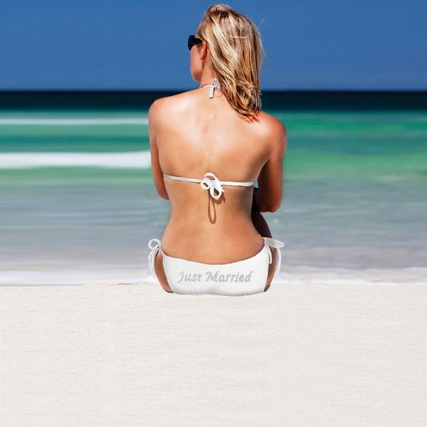 Bikini Just Married Weiß