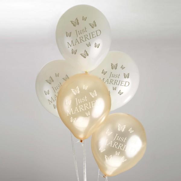 Luftballon Schmetterling Gold
