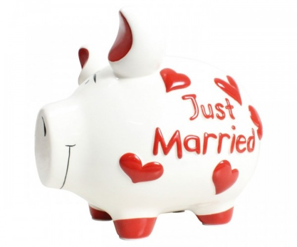 Sparschwein Just Married