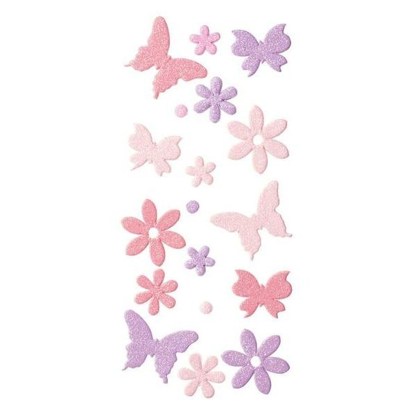 Sticker Flowers & Butterflies