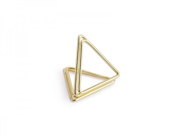 Tischkartenhalter Dreieck Gold