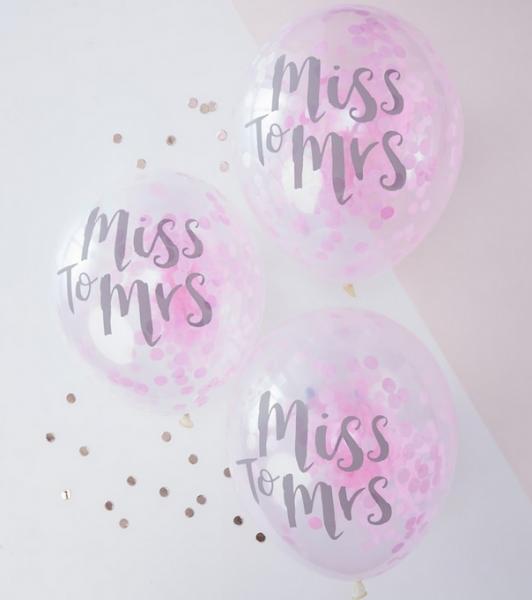 Luftballons Miss to Mrs