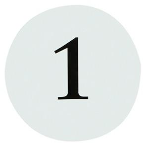 Tischnummer rund