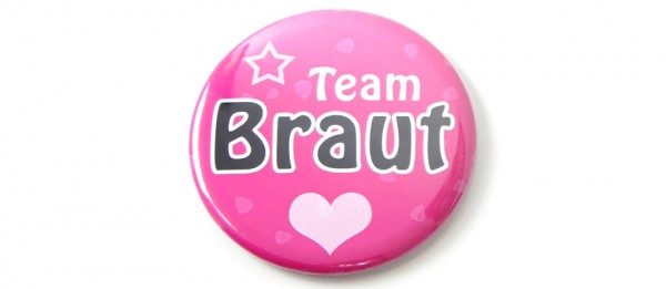 Button Team Braut - Pink