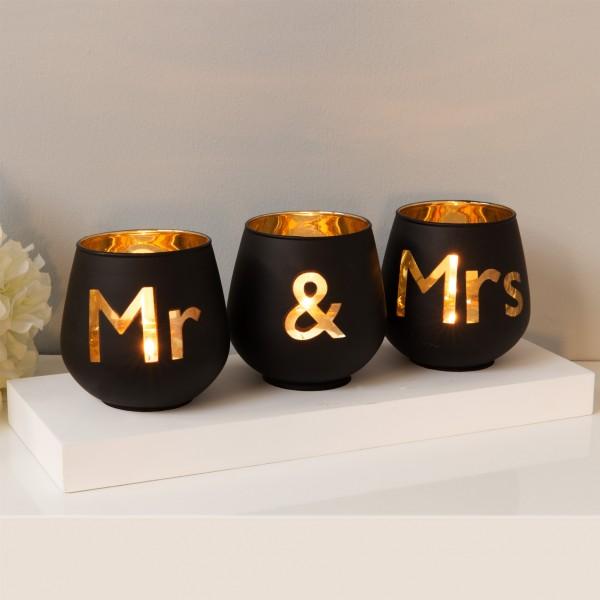 Windlicht-Set Mr. & Mrs.