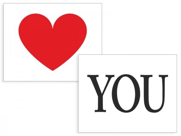 Love You Schuh-Sticker