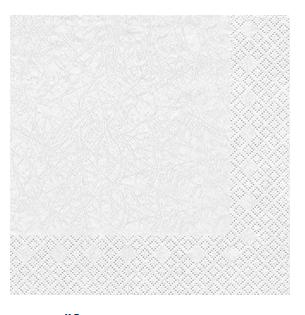 Servietten Modern Weiß