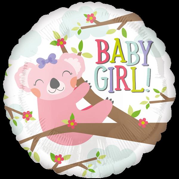 Folienballon Babygirl – mit Heliumfüllung