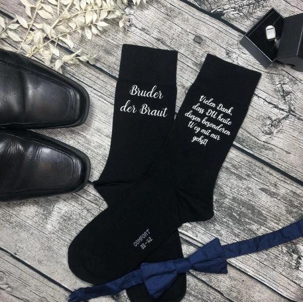 Socken Bruder der Braut