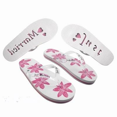 Flip Flops Blumen Weiß