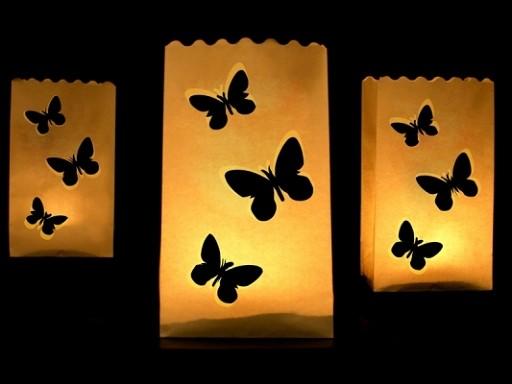 Windlicht Schmetterling klein
