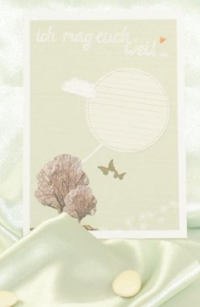 Postkarte Ich mag euch, weil…