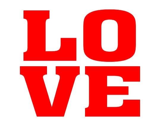 Love Schuh-Sticker