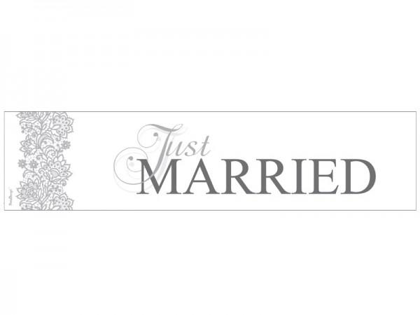 Nummernschild Just Married Silber