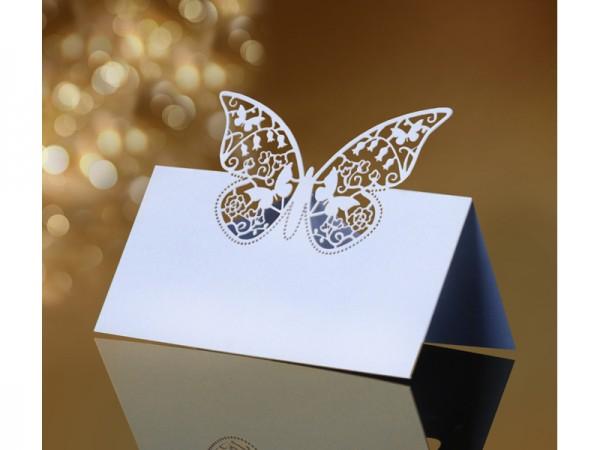 Tischkarte Schmetterling Vintage