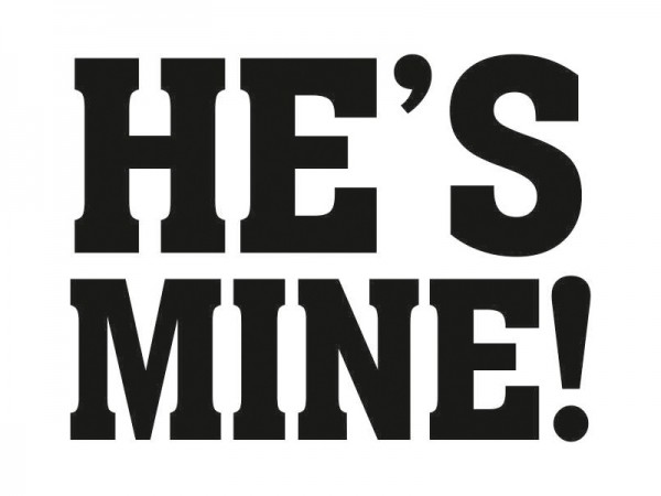 He's Mine Schuh-Sticker