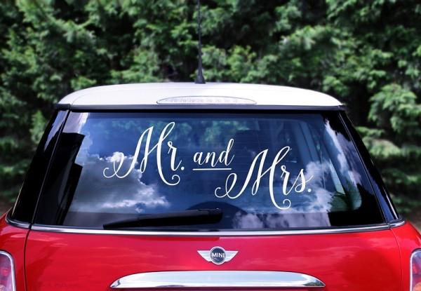 Autoaufkleber Mr. & Mrs.