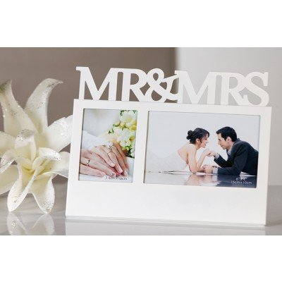 Bilderrahmen Mr. & Mrs. Weiß