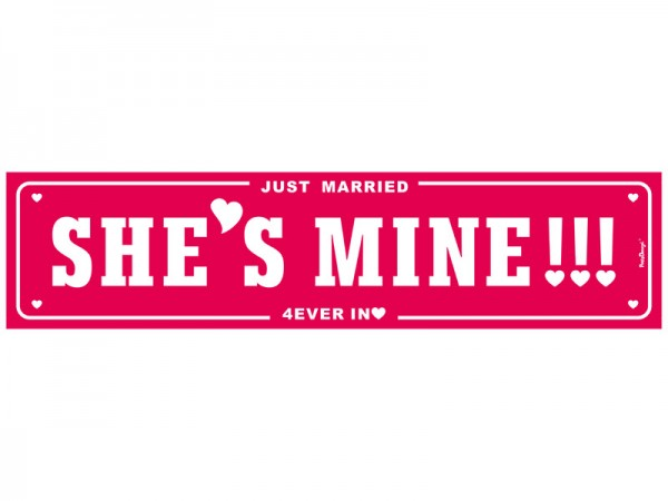 Nummernschild She's Mine