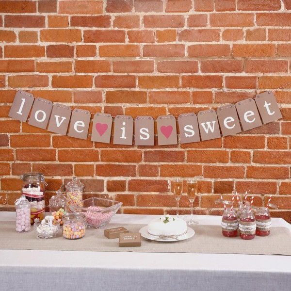 Banner Love is sweet - Retro