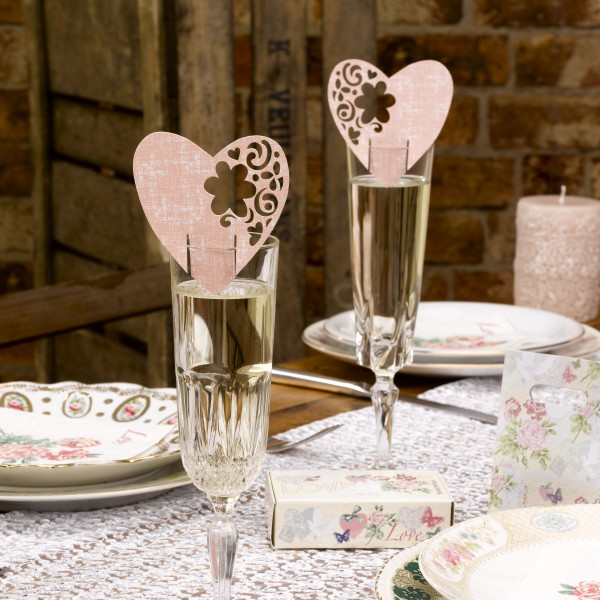 Tischkarte Romance