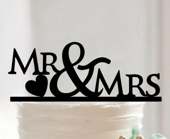 Tortendeko Mr. & Mrs. Herz