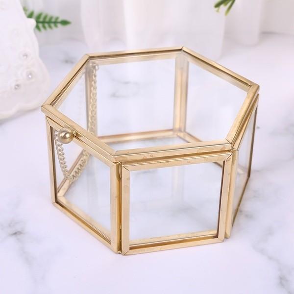Ringkistchen Ringbox Hexagon