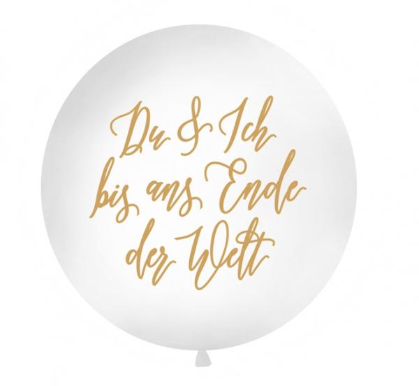 Jumbo-Ballon Du & Ich