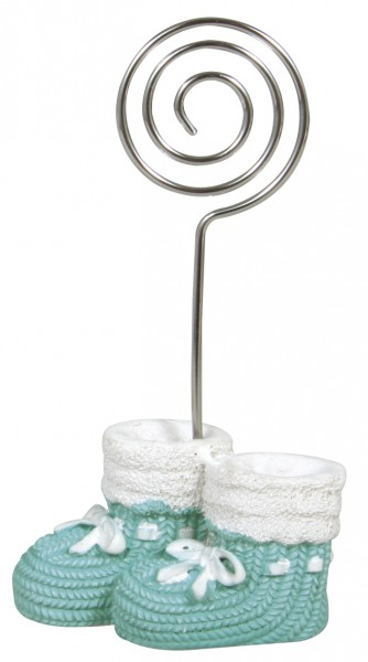 Tischkartenhalter Babyschuh Blau