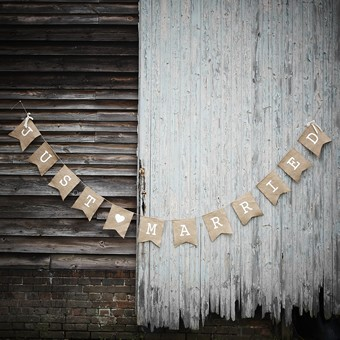 Banner Just Married - Jute Groß