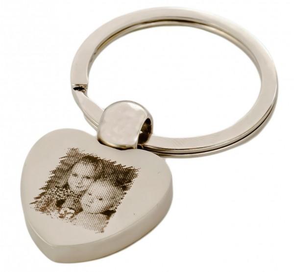 Herzschlüsselanhänger mit Foto