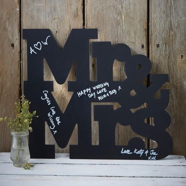 Gästebuch Mr. & Mrs. - Tafel