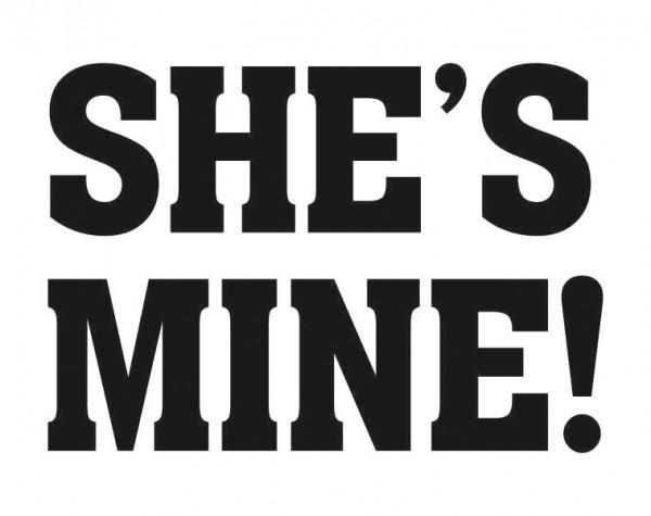 She's Mine Schuh-Sticker