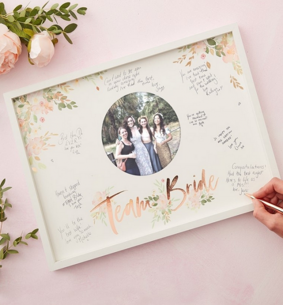 Gästebuch Bilderrahmen Team Bride