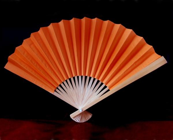 Papierfächer Orange