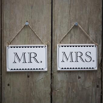 Sesselschilder Mr. & Mrs.