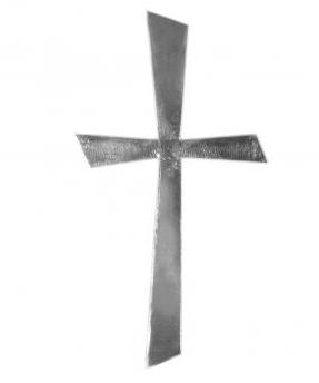 Wachsmotiv Kreuz Silber