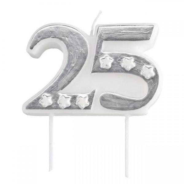 """Zahlenkerze """"25"""""""