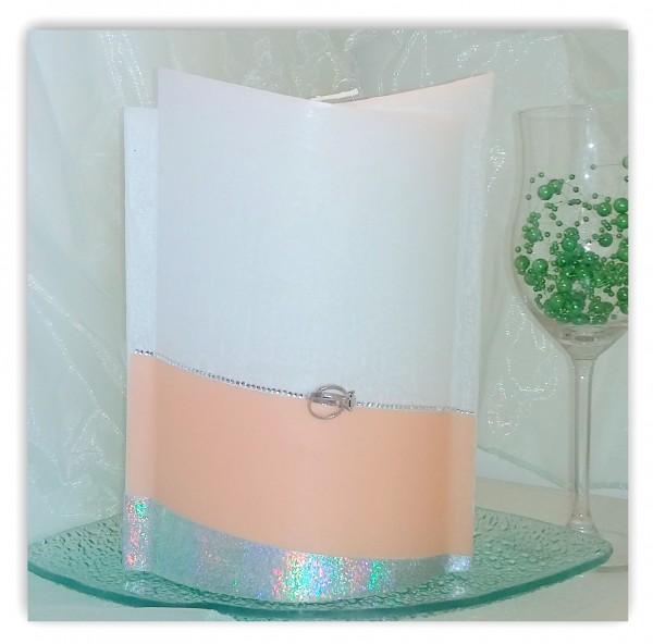 Hochzeitskerze Elegant mit Kerzenteller