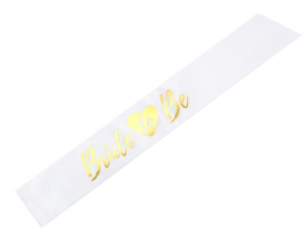 Schärpe Bride To Be - Herz - Weiß