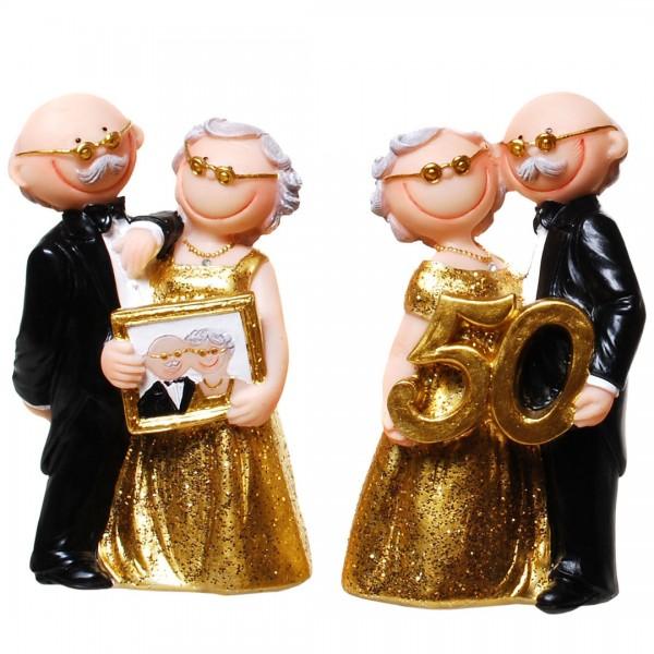 Tortenfigur Comic Goldene Hochzeit