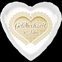 Folienballon Goldene Hochzeit – mit Heliumfüllung