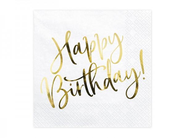 Servietten Geburtstag Gold