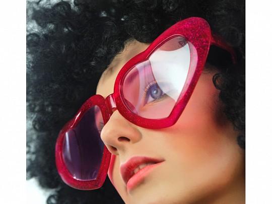 Herzbrille Rot XL