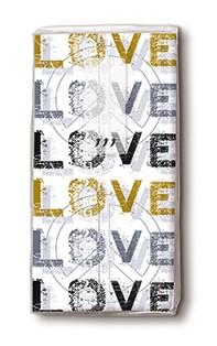 Taschentücher Love