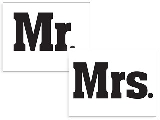 Mr. & Mrs. Schuh-Sticker